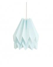 Lampa wisząca Plain Mint Blue Orikomi dekoracyjna papierowa oprawa wisząca