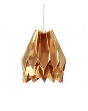 Lampa wisząca Plain Warm Gold Orikomi dekoracyjna papierowa oprawa wisząca
