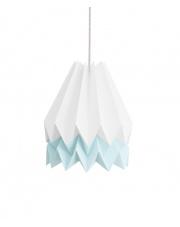 Lampa wisząca Polar White with Mint Blue Stripe Orikomi efektowna papierowa oprawa wisząca