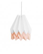 Lampa wisząca Polar White with Pastel Pink Stripe Orikomi efektowna papierowa oprawa wisząca