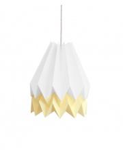Lampa wisząca Polar White with Pale Yellow Stripe Orikomi efektowna papierowa oprawa wisząca