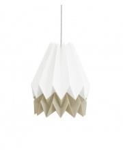 Lampa wisząca Polar White with Light Taupe Stripe Orikomi efektowna papierowa oprawa wisząca