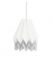 Lampa wisząca Polar White with Light Grey Stripe Orikomi efektowna papierowa oprawa wisząca