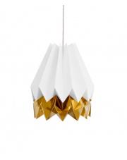 Lampa wisząca Polar White with Warm Gold Stripe Orikomi efektowna papierowa oprawa wisząca