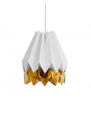 Lampa wisząca Light Grey with Warm Gold Stripe Orikomi efektowna papierowa oprawa wisząca