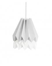 Lampa wisząca Light Grey with Polar White Stripe Orikomi efektowna papierowa oprawa wisząca