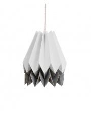 Lampa wisząca Light Grey with Alpine Grey Stripe Orikomi efektowna papierowa oprawa wisząca