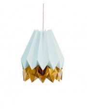 Lampa wisząca Mint Blue with Warm Gold Stripe Orikomi efektowna papierowa oprawa wisząca