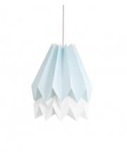 Lampa wisząca Mint Blue with Polar White Stripe Orikomi efektowna papierowa oprawa wisząca