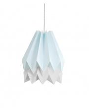 Lampa wisząca Mint Blue with Light Grey Stripe Orikomi efektowna papierowa oprawa wisząca
