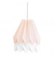 Lampa wisząca Pastel Pink with Polar White Stripe Orikomi efektowna papierowa oprawa wisząca