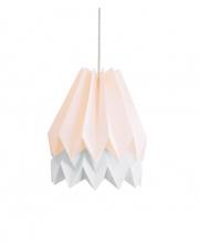 Lampa wisząca Pastel Pink with Light Grey Stripe Orikomi efektowna papierowa oprawa wisząca
