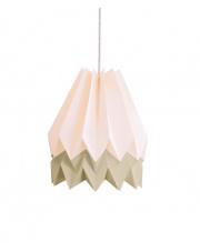 Lampa wisząca Pastel Pink with Light Taupe Stripe Orikomi efektowna papierowa oprawa wisząca