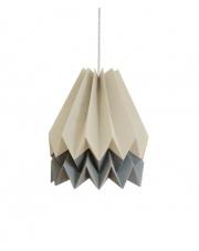Lampa wisząca Light Taupe with Alpine Grey Stripe Orikomi efektowna papierowa oprawa wisząca