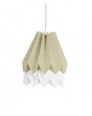 Lampa wisząca Light Taupe with Polar White Stripe Orikomi efektowna papierowa oprawa wisząca