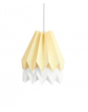 Lampa wisząca Pale Yellow with Polar White Stripe Orikomi efektowna papierowa oprawa wisząca