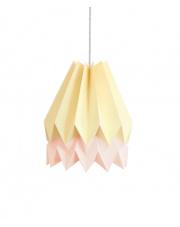 Lampa wisząca Pale Yellow with Pastel Pink Stripe Orikomi efektowna papierowa oprawa wisząca