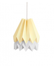 Lampa wisząca Pale Yellow with Light Grey Stripe Orikomi efektowna papierowa oprawa wisząca
