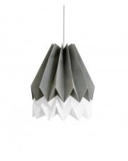 Lampa wisząca Alpine Grey with Polar White Stripe Orikomi efektowna papierowa oprawa wisząca