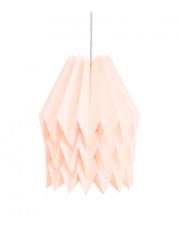 Lampa wisząca XL Plain Pastel Pink Orikomi papierowa dekoracyjna oprawa wisząca
