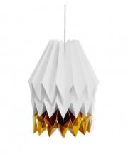 Lampa wisząca XL Light Grey with Warm Gold Stripe Orikomi papierowa dekoracyjna oprawa wisząca