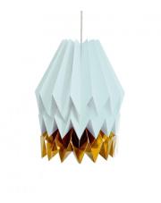 Lampa wisząca XL Mint Blue with Warm Gold Stripe Orikomi papierowa dekoracyjna oprawa wisząca