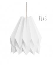 Lampa wisząca Plus Plain Polar White Orikomi stylowa papierowa oprawa wisząca