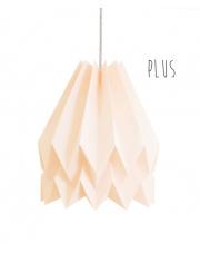 Lampa wisząca Plus Plain Pastel Pink Orikomi stylowa papierowa oprawa wisząca