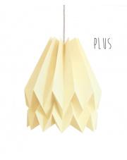 Lampa wisząca Plus Plain Pale Yellow Orikomi stylowa papierowa oprawa wisząca