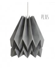 Lampa wisząca Plus Plain Alpine Grey Orikomi stylowa papierowa oprawa wisząca