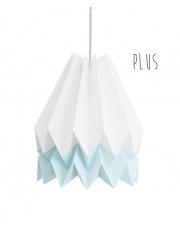 Lampa wisząca Plus Polar White with Mint Blue Stripe Orikomi stylowa papierowa oprawa wisząca
