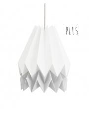 Lampa wisząca Plus Polar White with Light Grey Stripe Orikomi stylowa papierowa oprawa wisząca