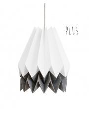 Lampa wisząca Plus Polar White with Alpine Grey Stripe Orikomi stylowa papierowa oprawa wisząca