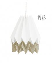 Lampa wisząca Plus Polar White with Light Taupe Stripe Orikomi stylowa papierowa oprawa wisząca
