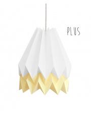 Lampa wisząca Plus Polar White with Pale Yellow Stripe Orikomi stylowa papierowa oprawa wisząca