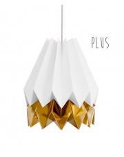 Lampa wisząca Plus Polar White with Warm Gold Stripe Orikomi stylowa papierowa oprawa wisząca