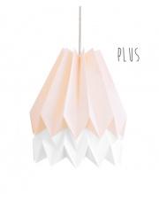 Lampa wisząca Plus Pastel Pink with Polar White Stripe Orikomi stylowa papierowa oprawa wisząca