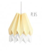 Lampa wisząca Plus Pale Yellow with Polar White Stripe Orikomi stylowa papierowa oprawa wisząca