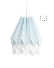 Lampa wisząca Plus Mint Blue with Polar White Stripe Orikomi stylowa papierowa oprawa wisząca