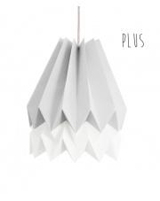 Lampa wisząca Plus Light Grey with Polar White Stripe Orikomi stylowa papierowa oprawa wisząca