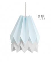 Lampa wisząca Plus Mint Blue with Light Grey Stripe Orikomi stylowa papierowa oprawa wisząca