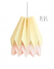 Lampa wisząca Plus Pale Yellow with Pastel Pink Stripe Orikomi stylowa papierowa oprawa wisząca