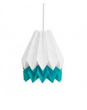 Lampa wisząca Summer Carribean Blue Stripe Orikomi papierowa oprawa wisząca origami