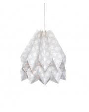 Lampa wisząca Native Kayapo Light Grey Orikomi papierowa oprawa wisząca z etnicznym wzorem