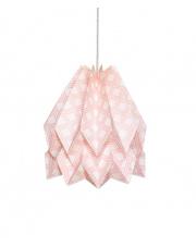 Lampa wisząca Native Kayapo Pastel Pink Orikomi papierowa oprawa wisząca z etnicznym wzorem