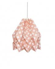 Lampa wisząca Native Kayapo Terracota Orikomi papierowa oprawa wisząca z etnicznym wzorem
