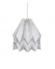 Lampa wisząca Native Tupi Light Grey Orikomi papierowa oprawa wisząca z etnicznym wzorem