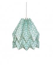 Lampa wisząca Native Tupi Deep Lagoon Orikomi papierowa oprawa wisząca z etnicznym wzorem