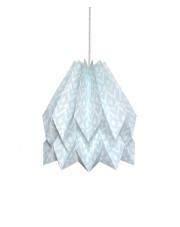 Lampa wisząca Native Tupi Mint Blue Orikomi papierowa oprawa wisząca z etnicznym wzorem