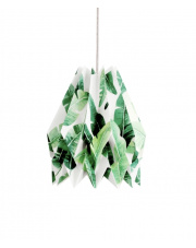 Lampa wisząca Tropical Orikomi papierowa oprawa wisząca z tropikalnym wzorem